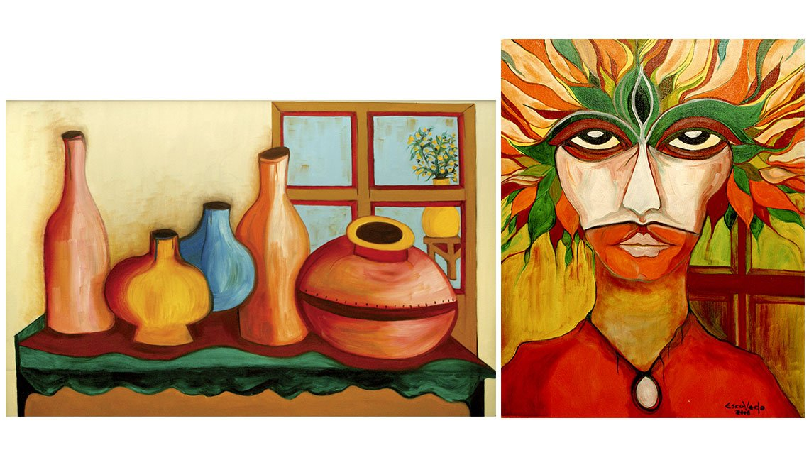 Cuadros de Pete Escovedo - Vases Table and Window, The Mask