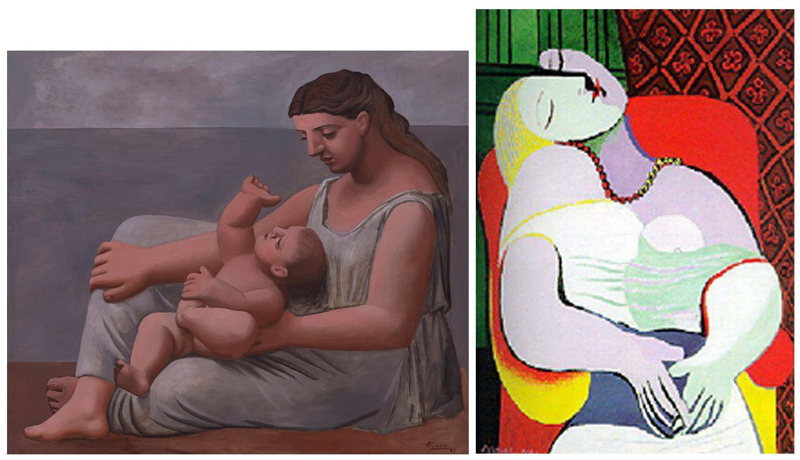 item 10, Gallery image. Obras 'Mother and Child' (izq.) y 'Le Rêve'.