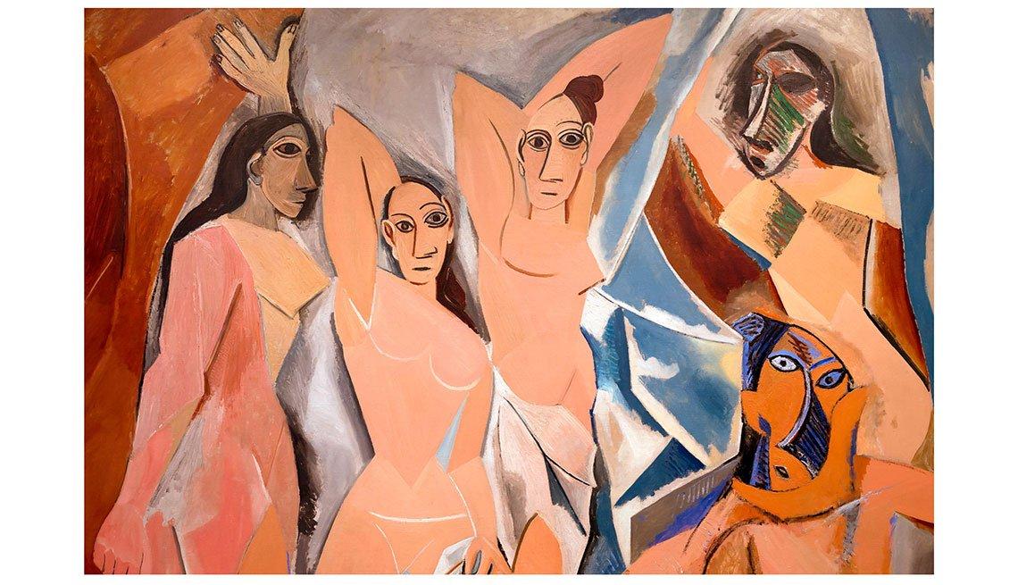 item 6, Gallery image. Óleo 'Les demoiselles d'Avignon'.