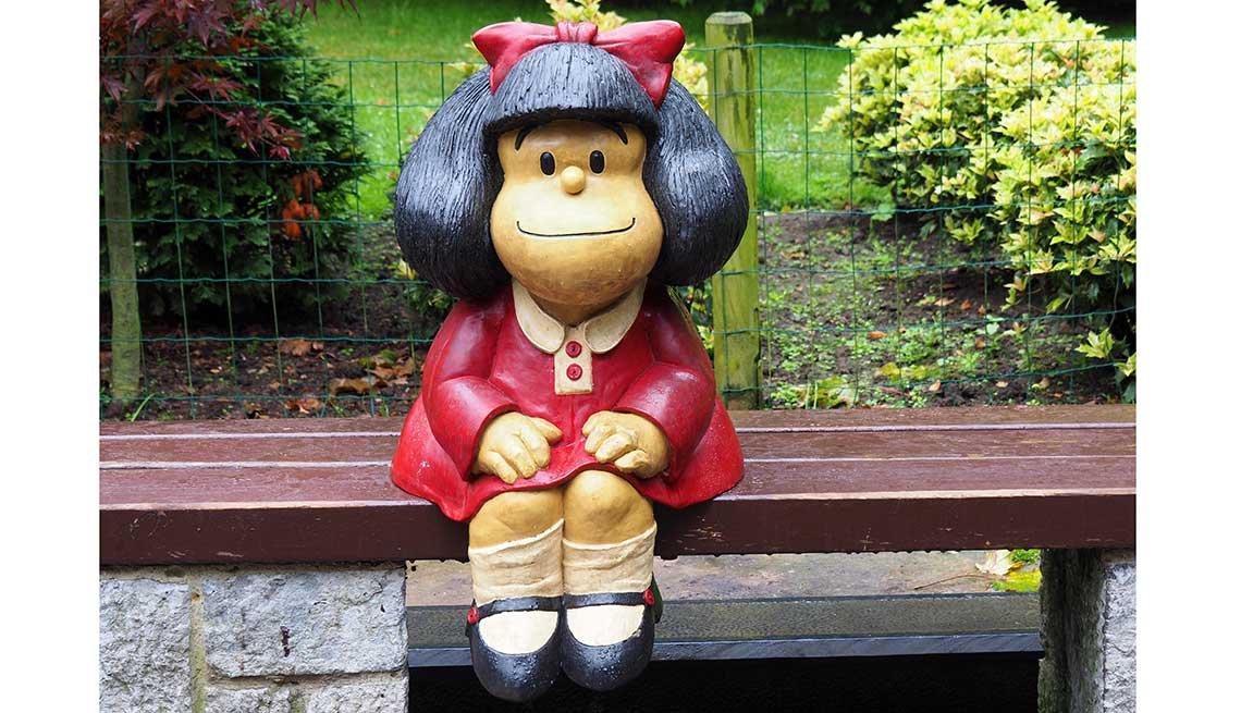 Estatua de Mafalda, Oviedo, España