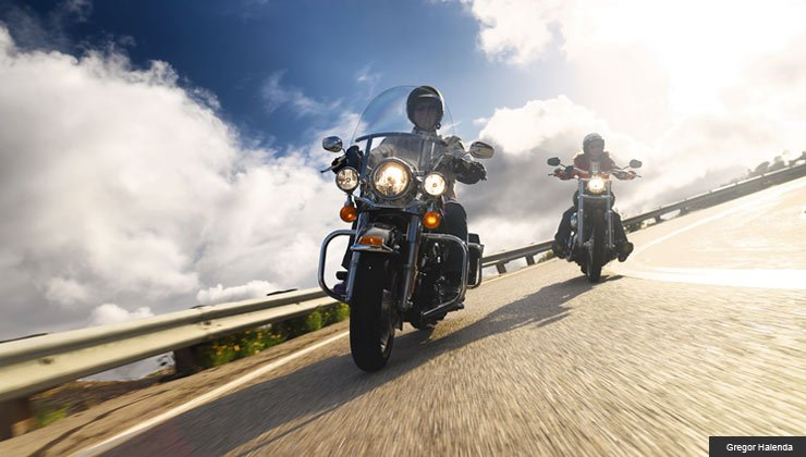 Motorcycle riders on CA road