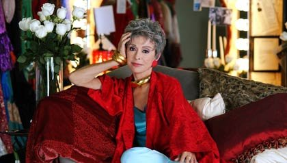 Rita Moreno in her theatre dressing room