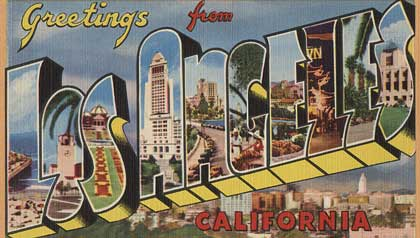 Vintage Greetings from Los Angeles postcard - AARP 2011 member event