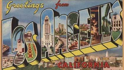 Vintage Greetings from Los Angeles postcard - AARP 2011 member event