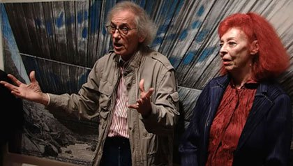 Artist Christo and wife Jeanne-Claude - Arkansas river art project