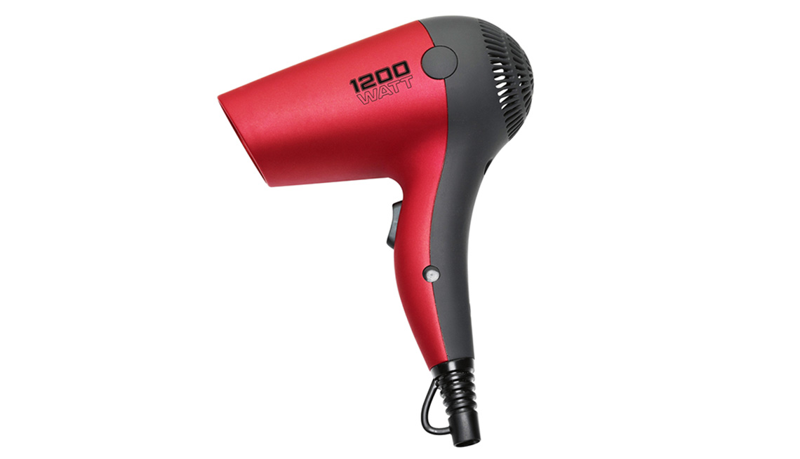 Travel size ionic hairdryer