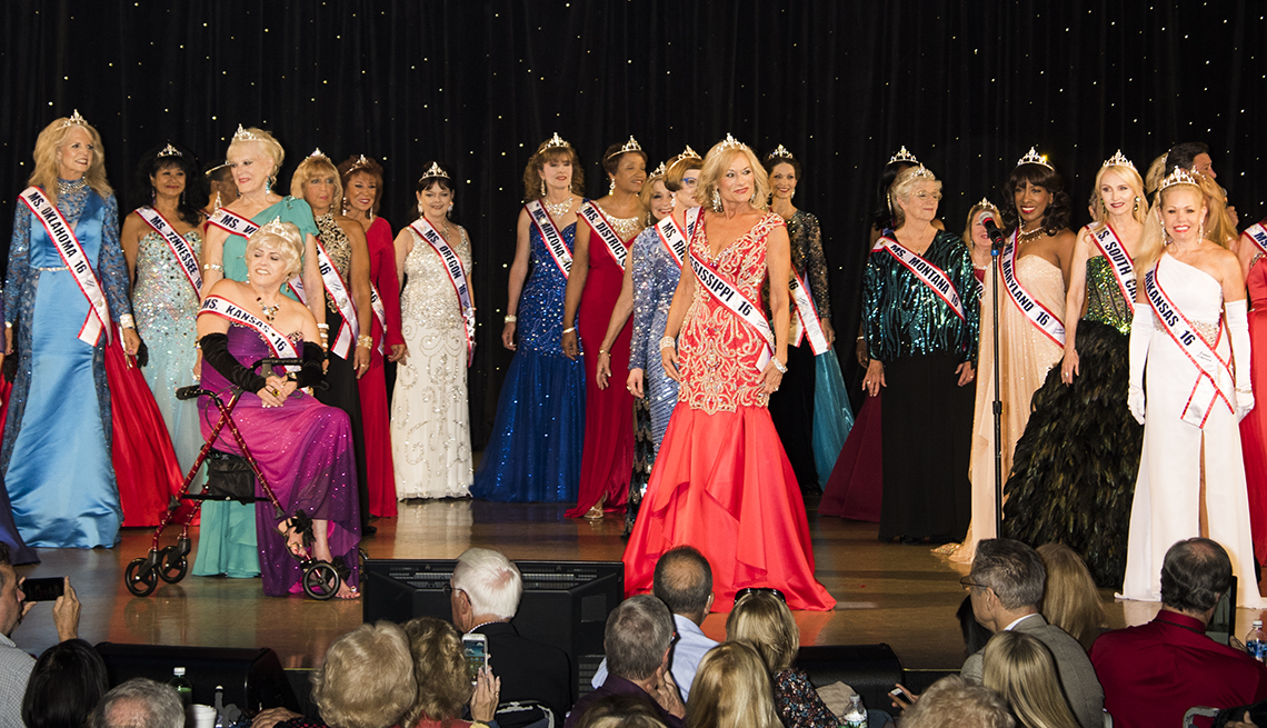 Ms Senior America, contestants