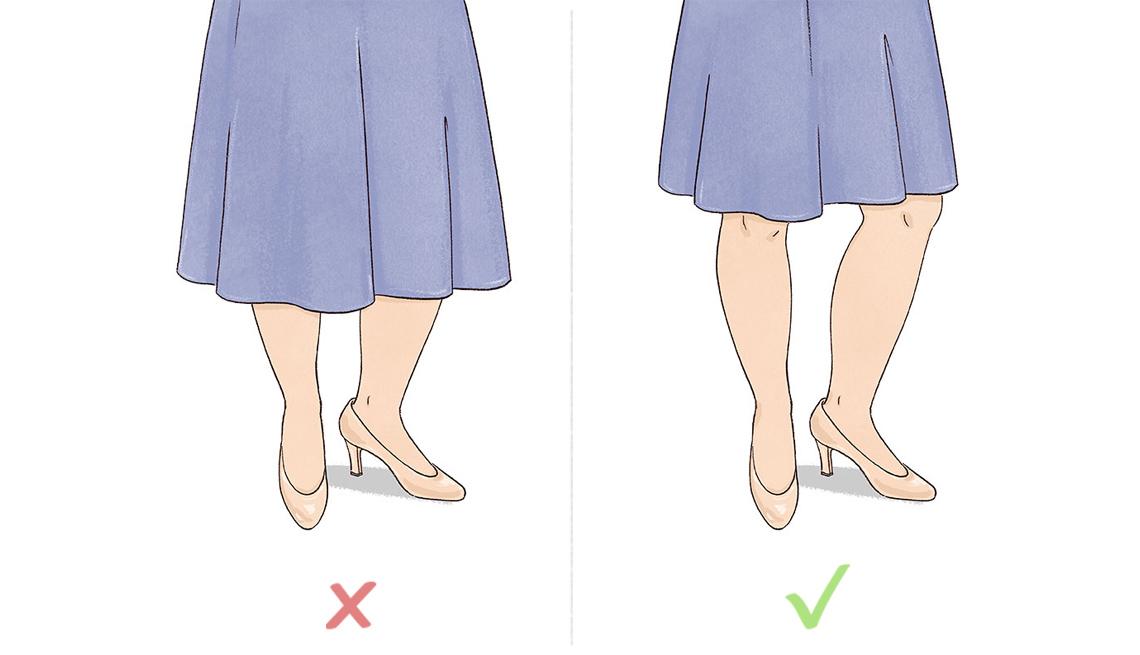 Keep skirt length knee-ish