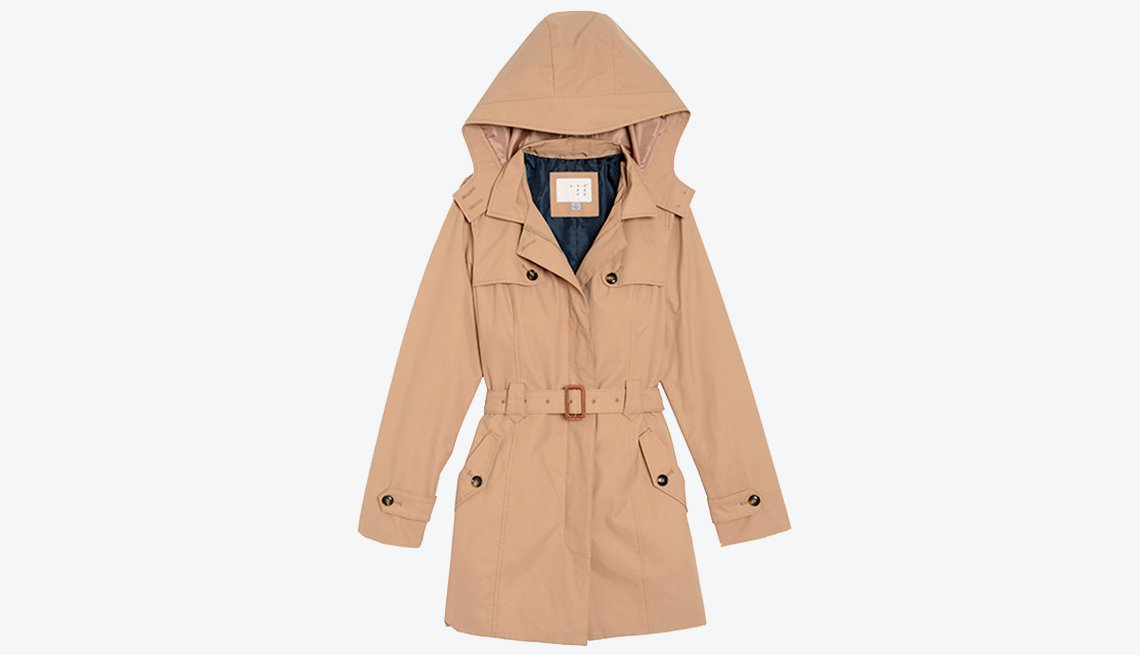 Women's Hooded Trench Coat- A New Day