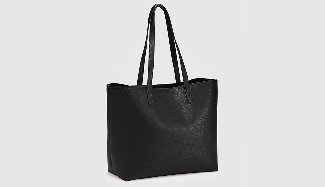 Old Navy Black Faux Leather Tote