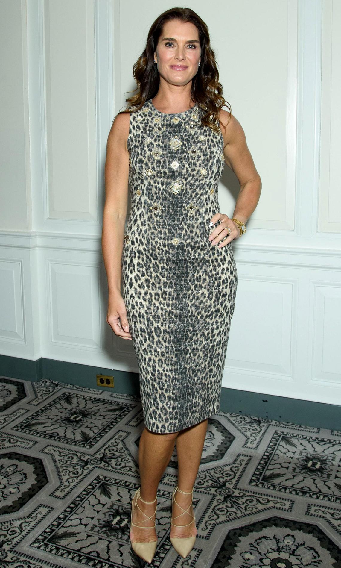 item 11 of Gallery image - Brooke Shields in a leopard dress