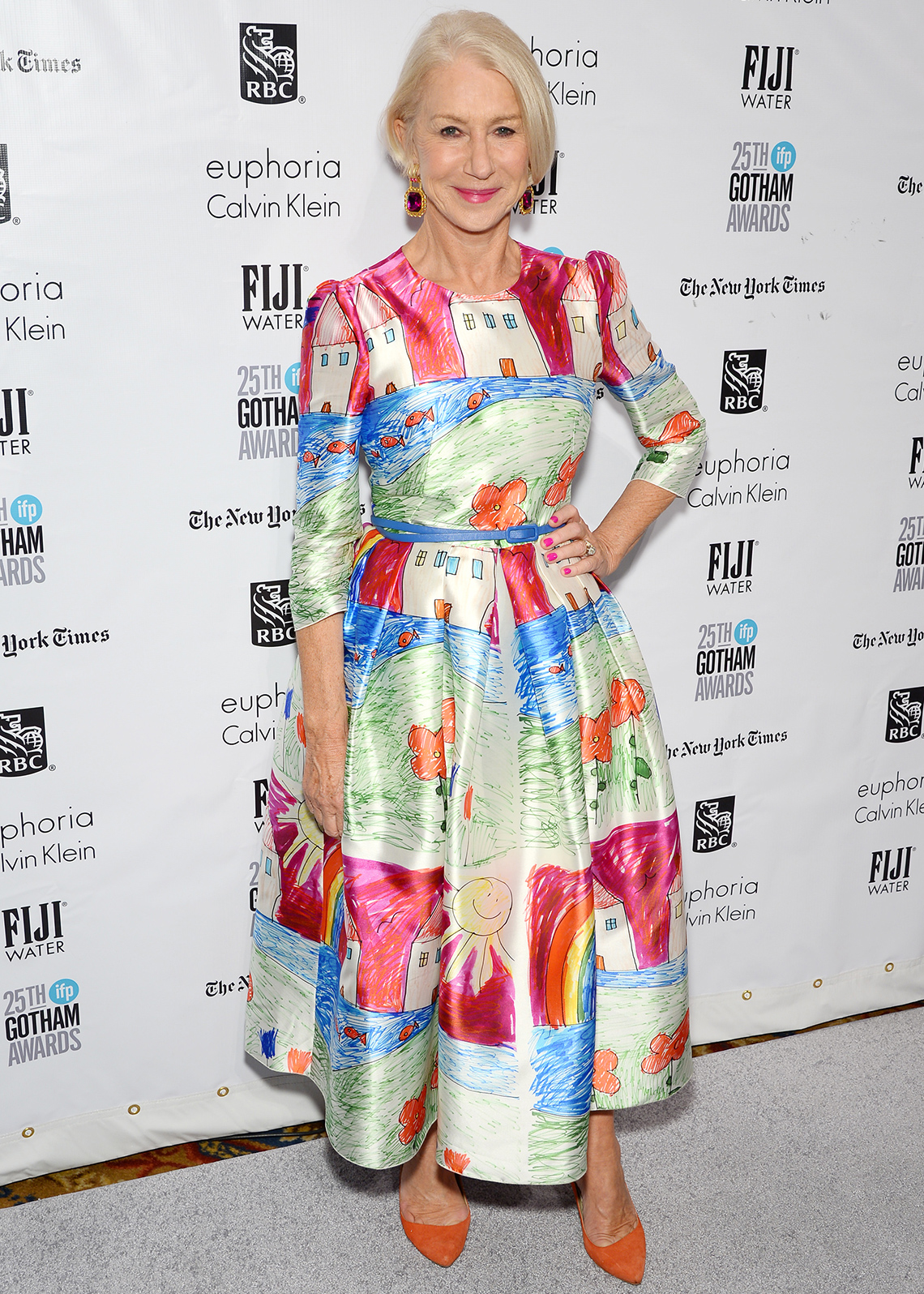 item 10 of Gallery image - Helen Mirren in a fit and flare dress