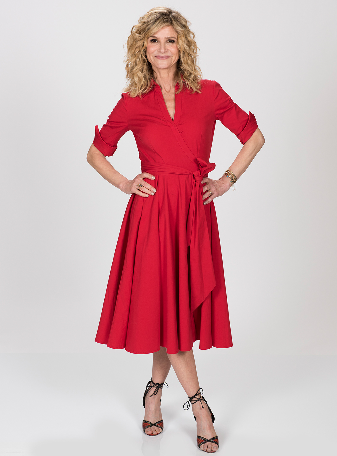 item 4 of Gallery image - Kyra Sedgwick in a red dress