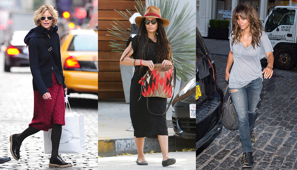 Meg Ryan, Lisa Bonet and Halle Berry dress in an age irrelevant style