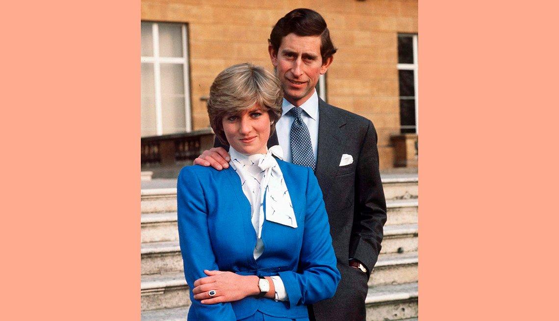 Diana, y el príncipe Carlos,  recordando a la Princesa de Gales