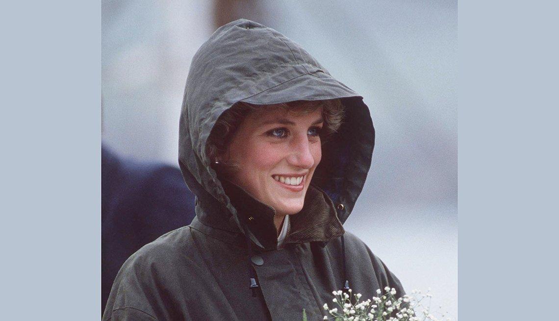 Diana bajo la lluvia,  recordando a la Princesa de Gales