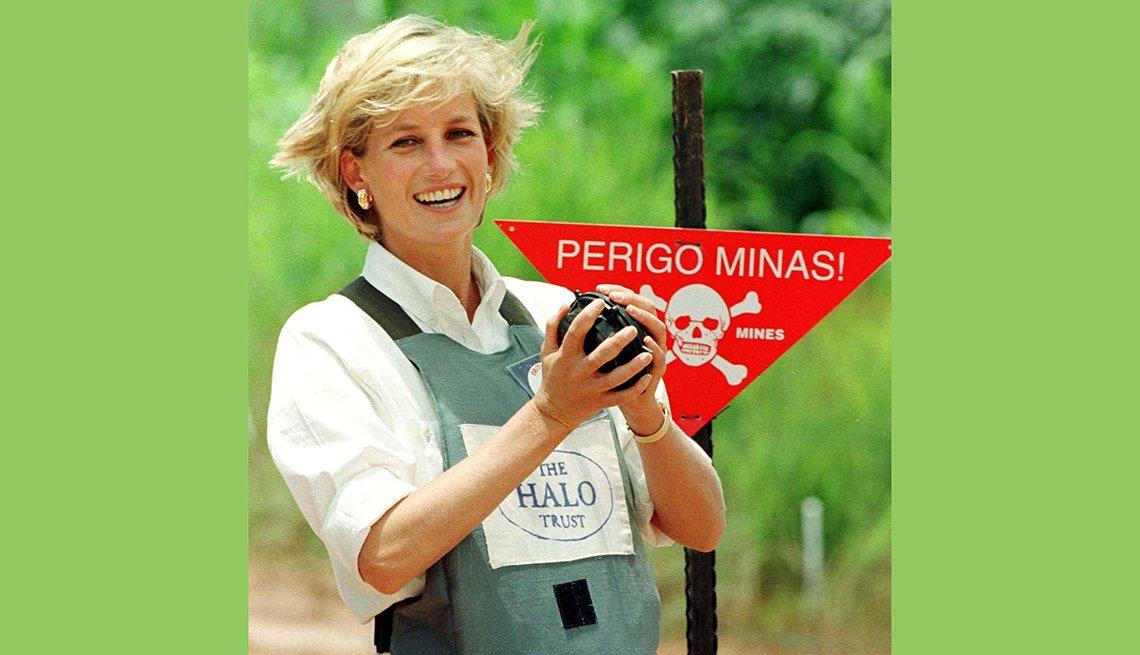 Diana en Angola, recordando a la Princesa de Gales,