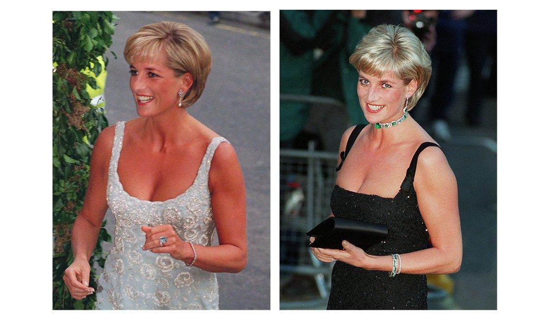 Diana en vestidos de noche,  recordando a la Princesa de Gales
