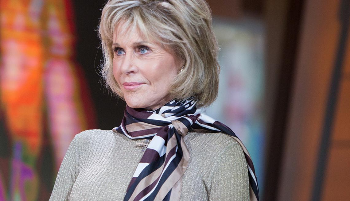 item 4 of Gallery image - Jane Fonda, Swivel to one shoulder