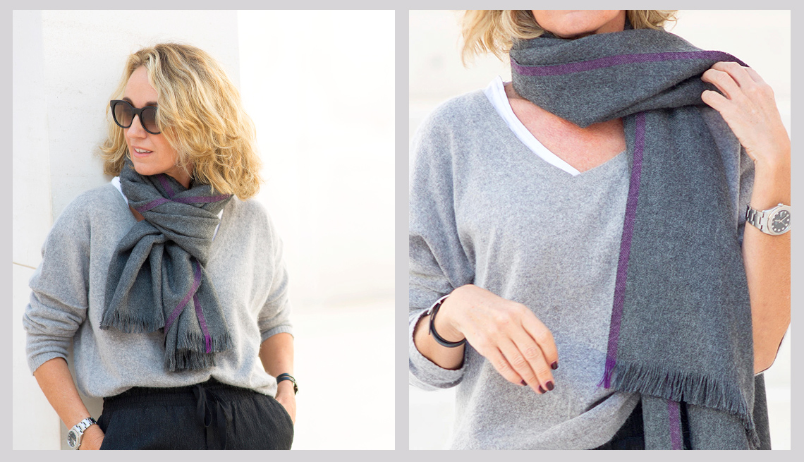 Ways to Tie Your Long Scarf
