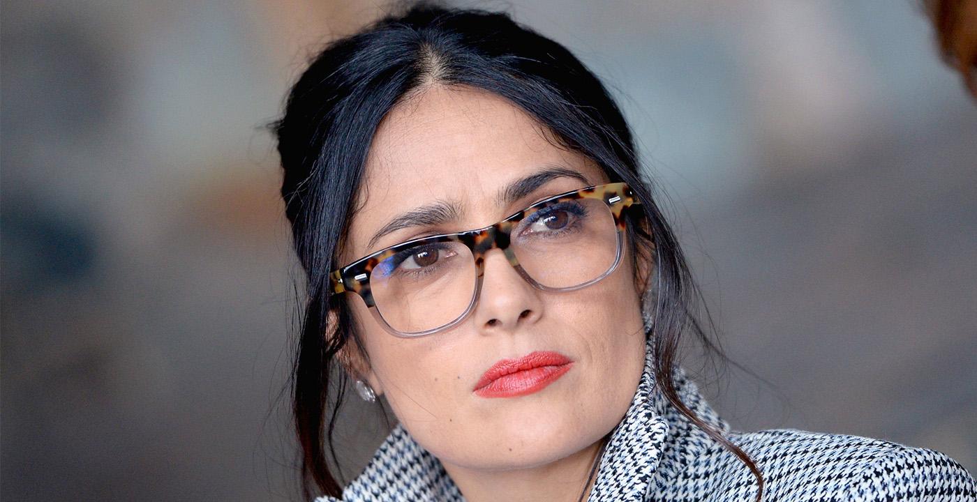 item 2 of Gallery image - Actress Salma Hayek wearing topline eyeglasses
