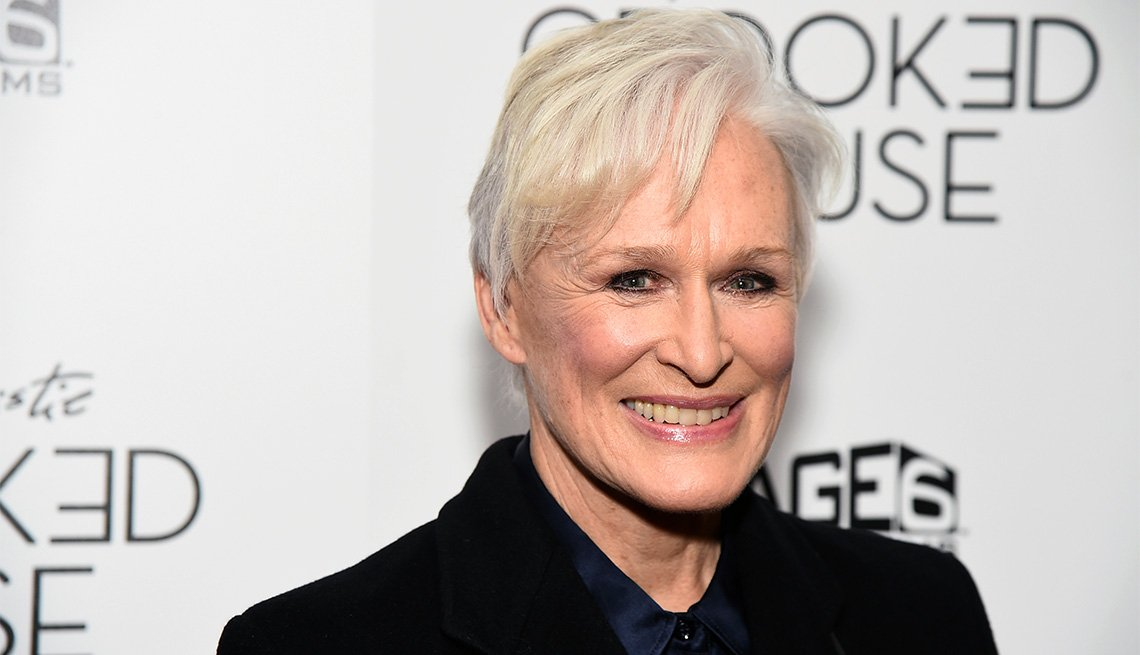 "item 5, Gallery image. Glenn Close attends the ""Crooked House"" premiere in New York."
