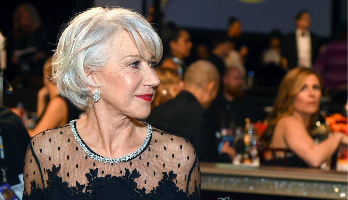 item 7, Gallery image. Helen Mirren celebrates the 75th Annual Golden Globe Awards.