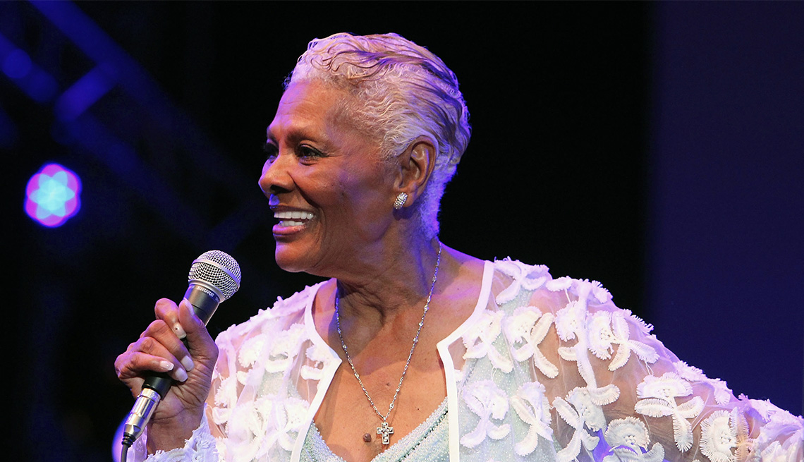 item 6 of Gallery image - Dionne Warwick shor gray hairstyle