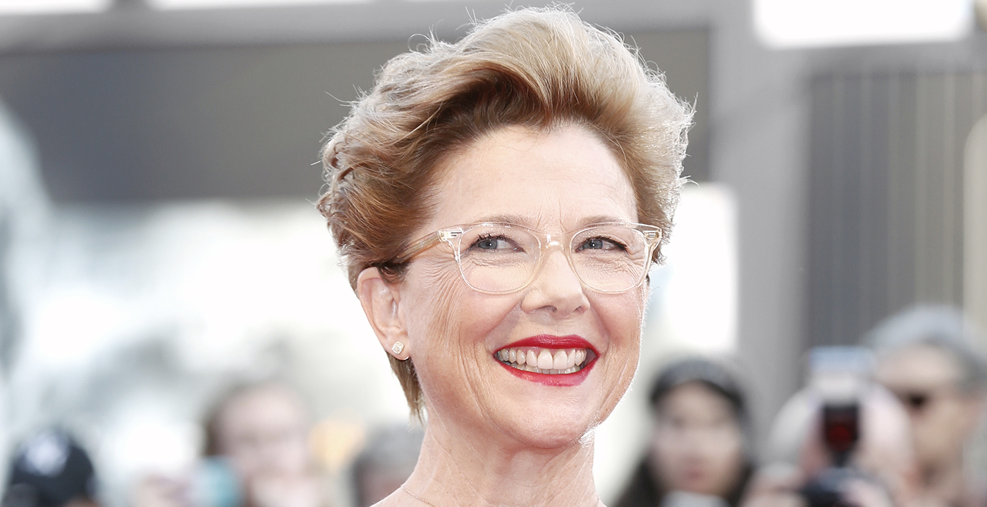 item 3 of Gallery image - Actress Annette Bening wearing transparent eyeglasses