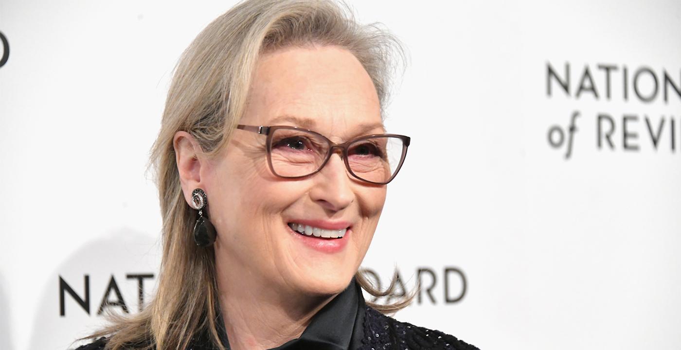 item 4 of Gallery image - Actress Meryl Streep wearing grayframe eyeglasses