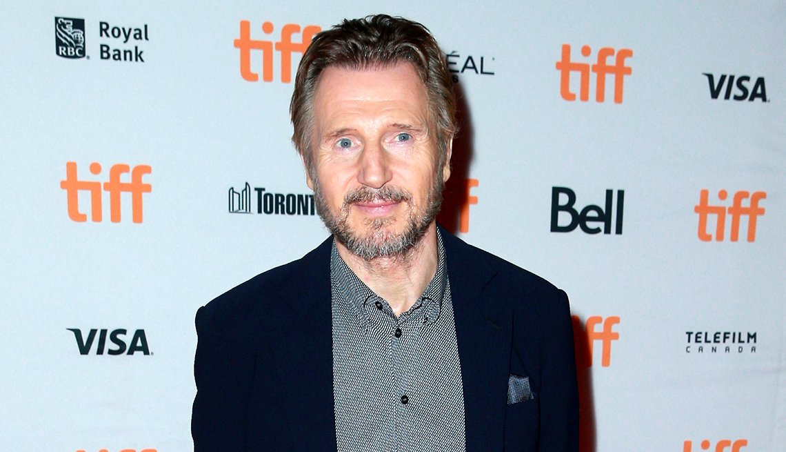 "item 2, Gallery image. Liam Neeson at the premiere of ""Mark Felt: The Man Who Brought Down the White House"" in 2017"