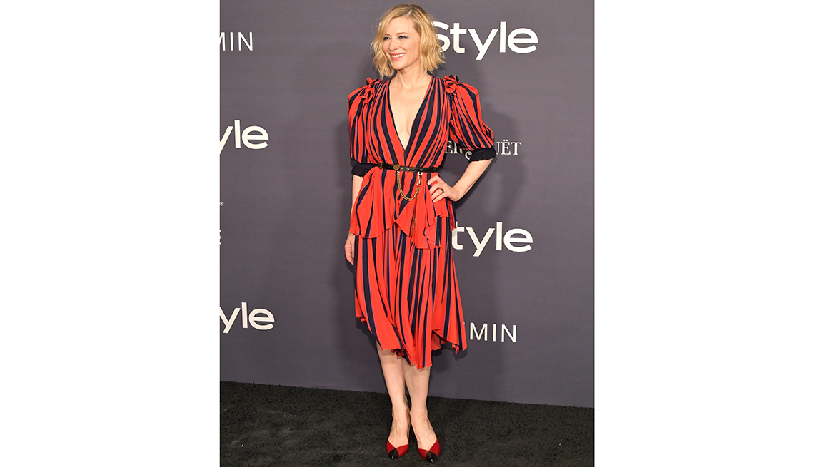 item 5 of Gallery image - actress cate blanchett poses on red carpet