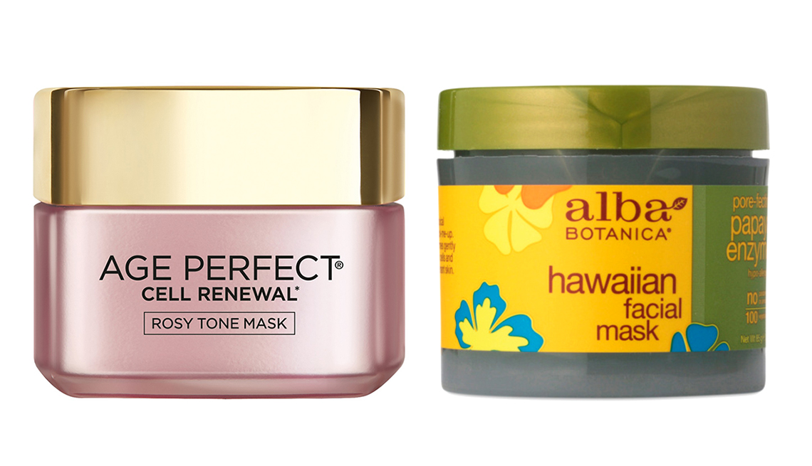 item 2 of Gallery image -  L'Oreal Paris Age Perfect Rosy Tone Mask y Alba Botanica Hawaiian Facial Mask