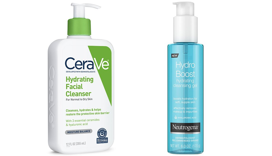 item 1 of Gallery image - CeraVe Hydrating Facial Cleanser for Normal to Dry Skin y Neutrogena Hydro Boost Hydrating Cleansing Gel