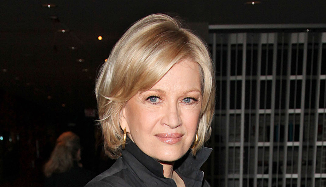 Diane Sawyer with a short haircut