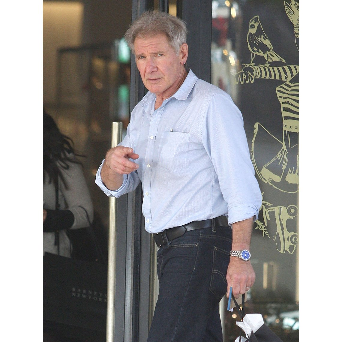 Harrison Ford en Barney's New York on December 17, 2014