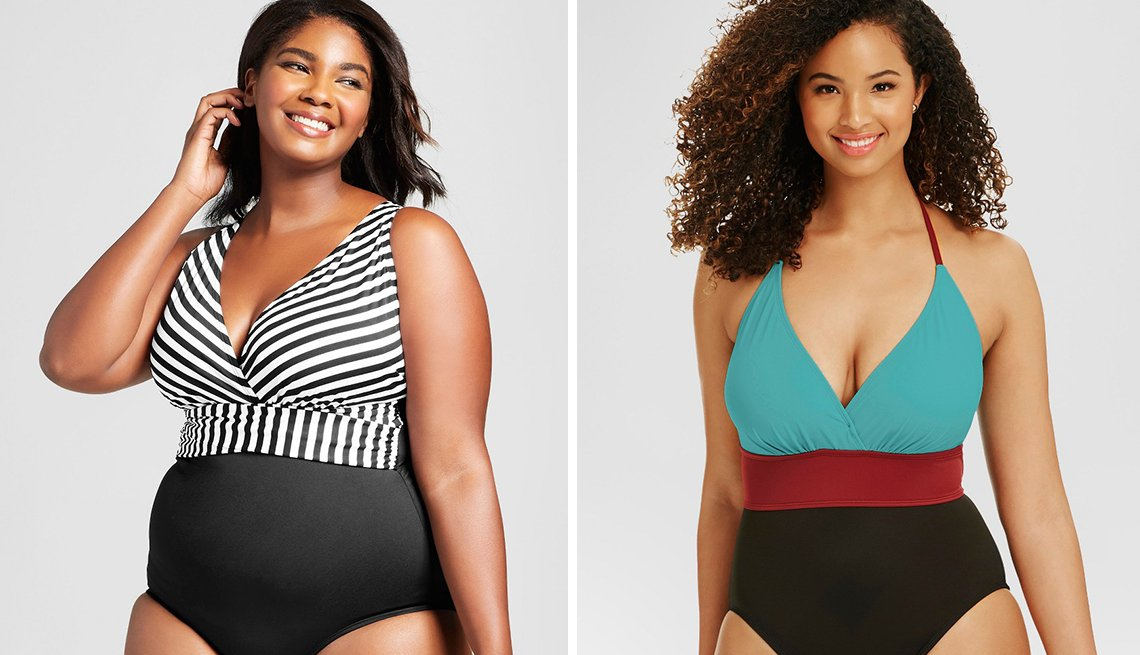 two women in bathings suits