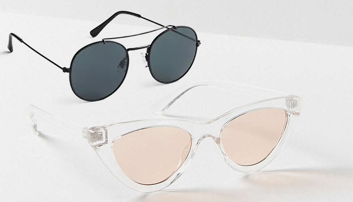 Two pairs of sunglasses.