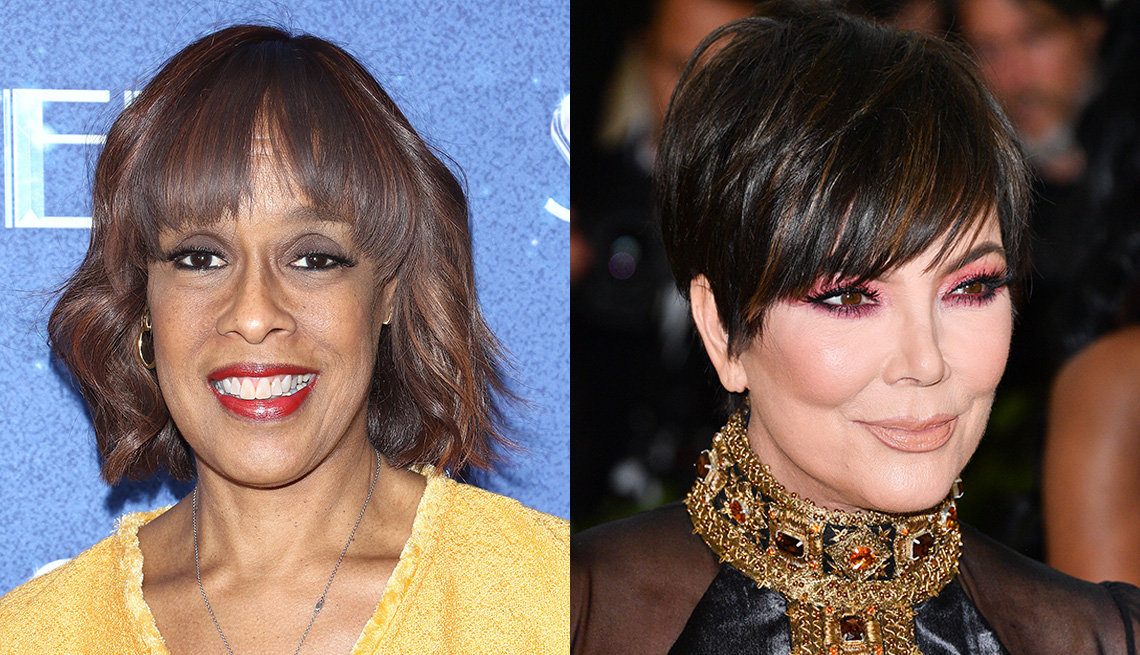 item 11 of Gallery image - Gayle King and Kris Jenner with bangs