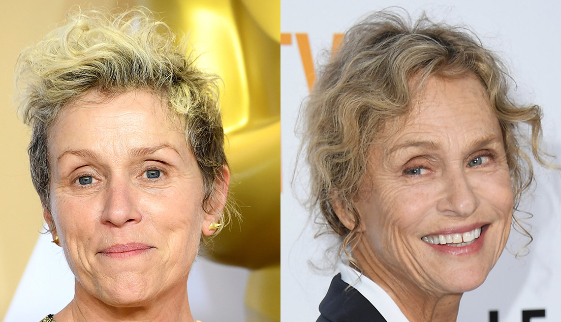 item 3 of Gallery image - Headshots of Frances McDormand and Lauren Hutton showcasing the gamine crop