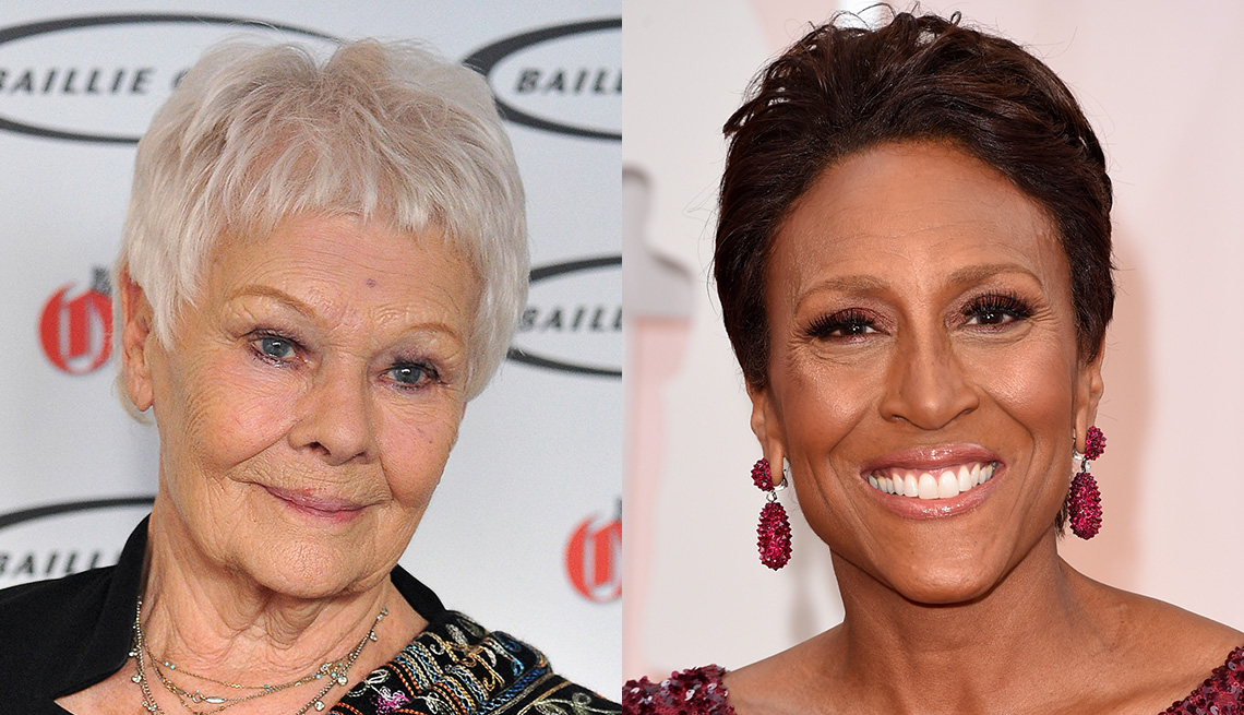 item 4 of Gallery image - Judy Dench and Robin Roberts with an ultra short cap hairstyle