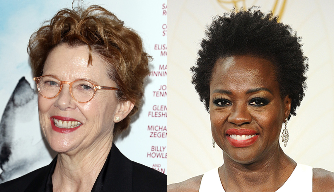item 7 of Gallery image - Annette Bening and Viola Davis with the curly crop hairstyle