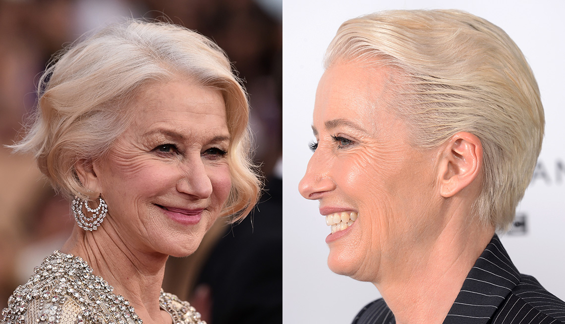 item 8 of Gallery image - Helen Mirren and Emma Thompson with the short new bob.