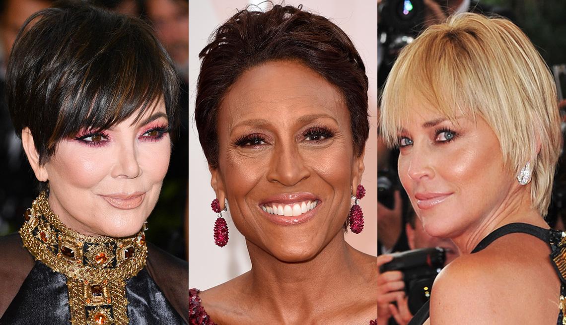 Three women with short hair