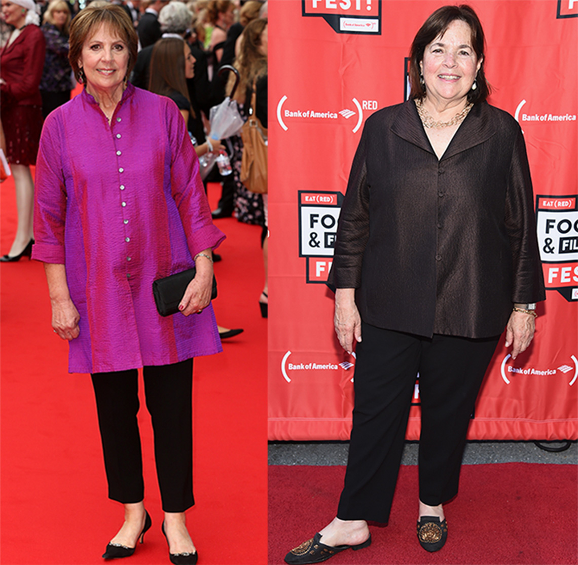 Penelope Wilton and Chef Ina Garten with tunics.