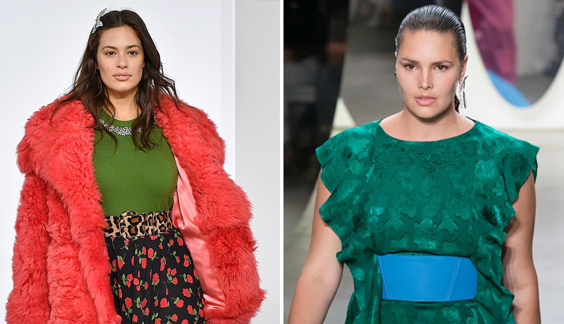 Modelos de tallas grandes Ashley Graham y Candice Huffine
