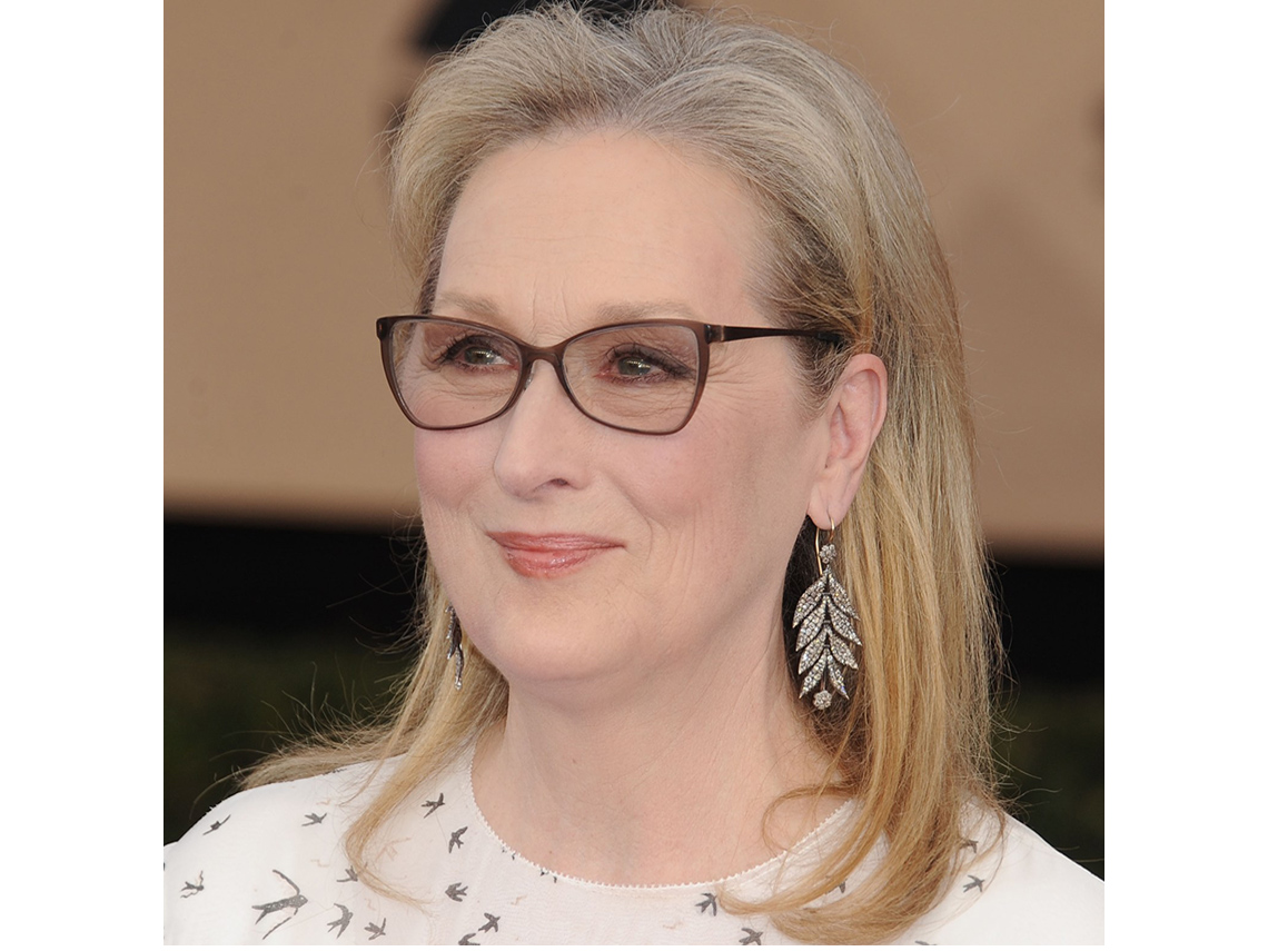 Meryl Streep usando lentes