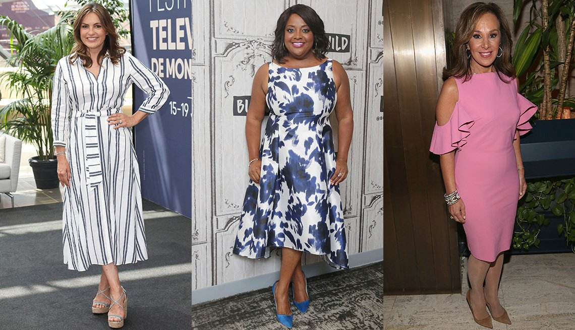 Mariska Hargitay, Sherri Shepherd Rosanna Scotto in long dresses.