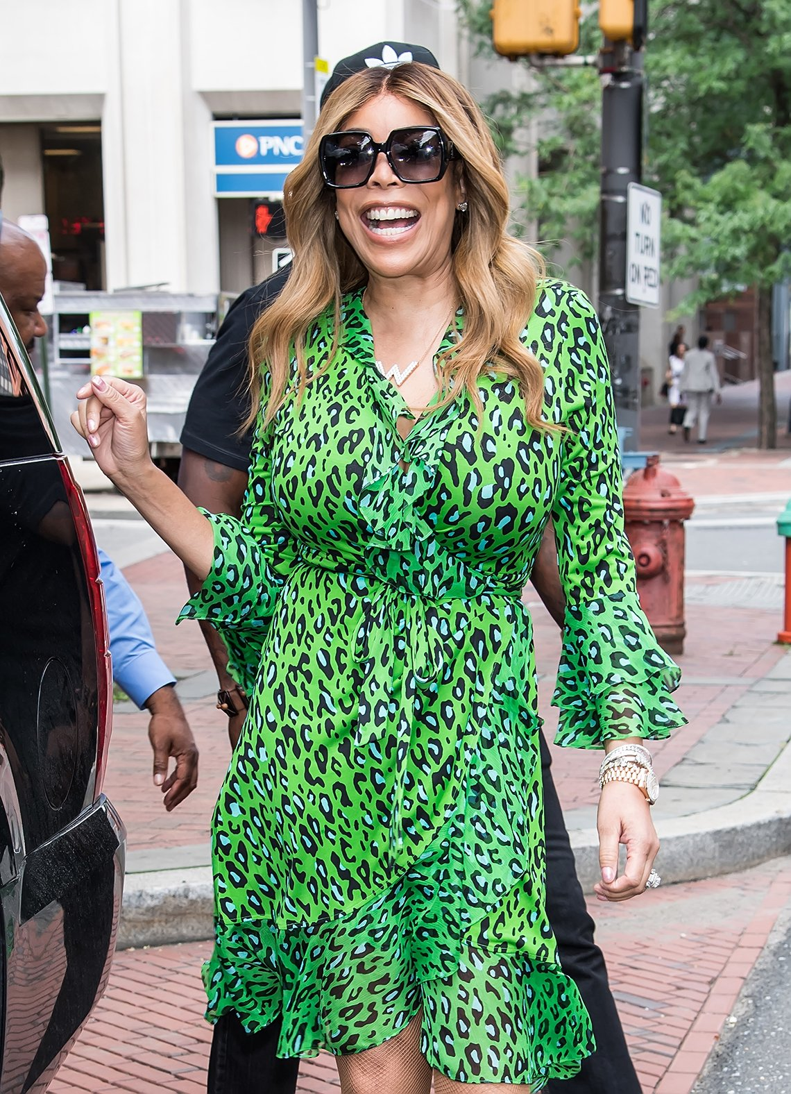 Wendy Williams in a curvy dress