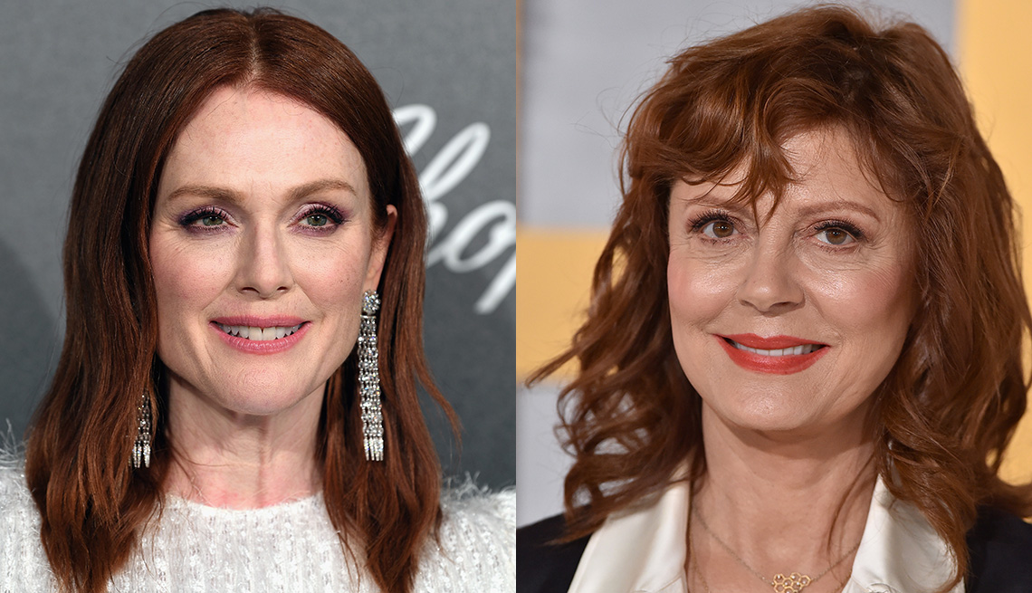 item 6 of Gallery image - Julianne Moore and Susan Sarandon with red hair.